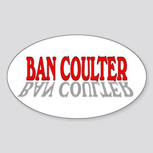 BAN COULTER Oval Sticker