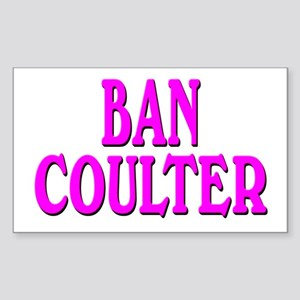 BAN COULTER Rectangle Sticker