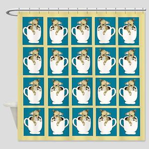 Teacup Chihuahua Shower Curtain