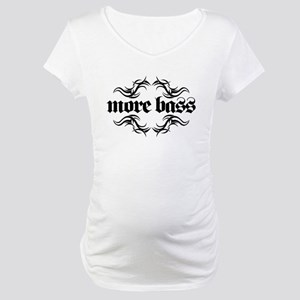 more bass - tribal 2-sided Maternity T-Shirt