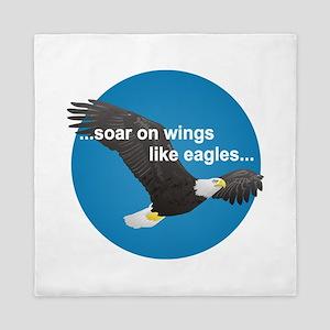 Wings Like Eagles Queen Duvet