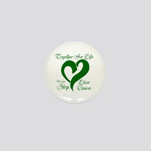 Stop Liver Cancer Mini Button