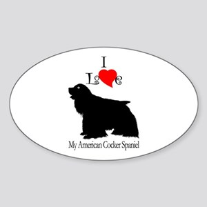 American Cocker Spaniel Oval Sticker