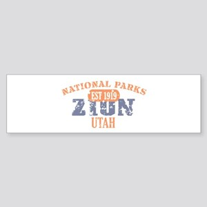 Zion National Park Utah Sticker (Bumper)