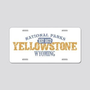 Yellowstone National Park WY Aluminum License Plat