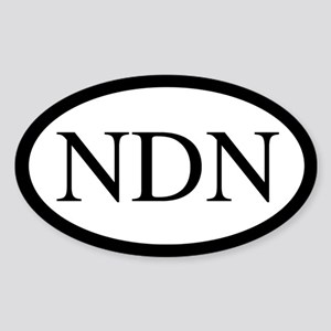 NDN Oval Design Oval Sticker