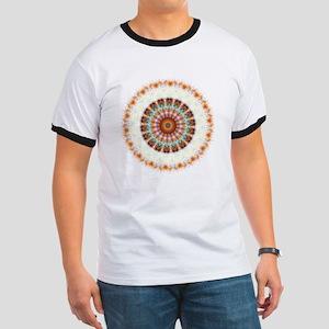 Detailed Orange Earth Mandala Ringer T
