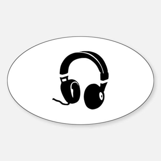 Headphones Sticker (Oval)