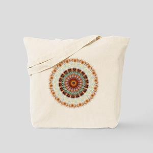 Detailed Orange Earth Mandala Tote Bag