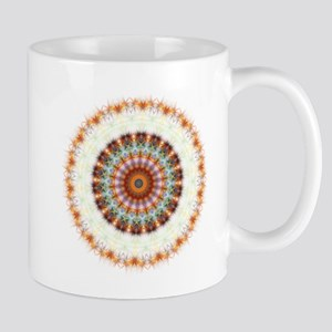 Detailed Orange Earth Mandala Mug