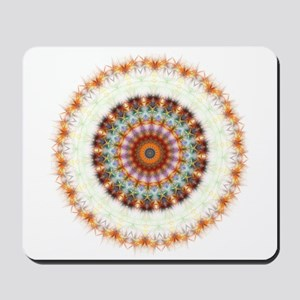Detailed Orange Earth Mandala Mousepad