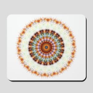 Detailed Orange Earth Mandala Mousepad