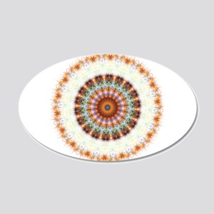 Detailed Orange Earth Mandala 20x12 Oval Wall Deca