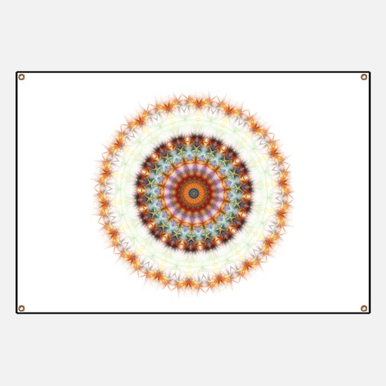 Detailed Orange Earth Mandala Banner