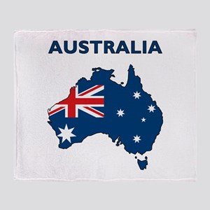 Map Of Australia Throw Blanket