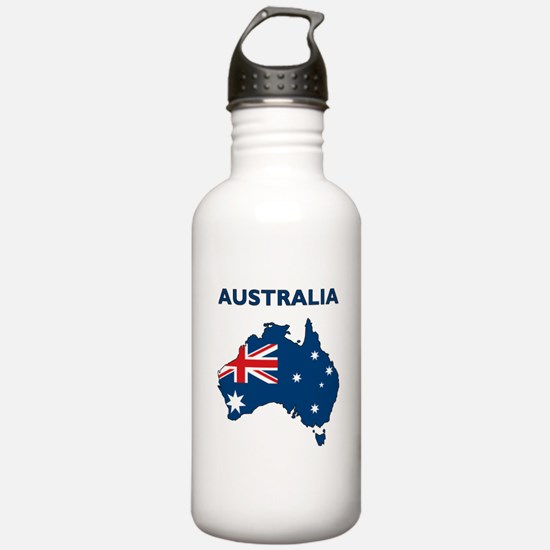 Map Of Australia Water Bottle