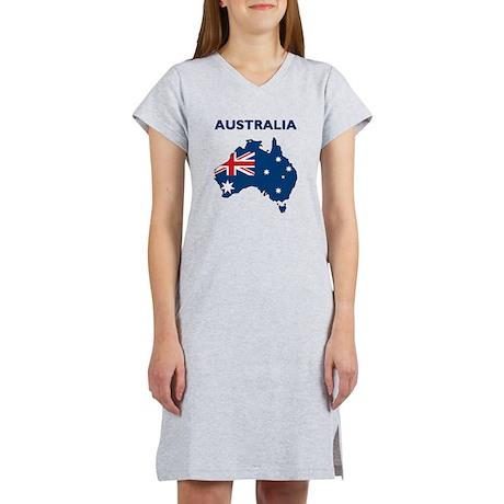 Map Of Australia Women's Nightshirt