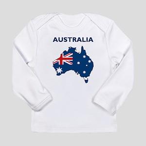 Map Of Australia Long Sleeve Infant T-Shirt