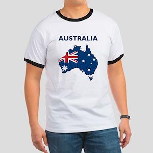 Map Of Australia Ringer T