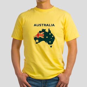 Map Of Australia Yellow T-Shirt