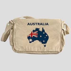 Map Of Australia Messenger Bag