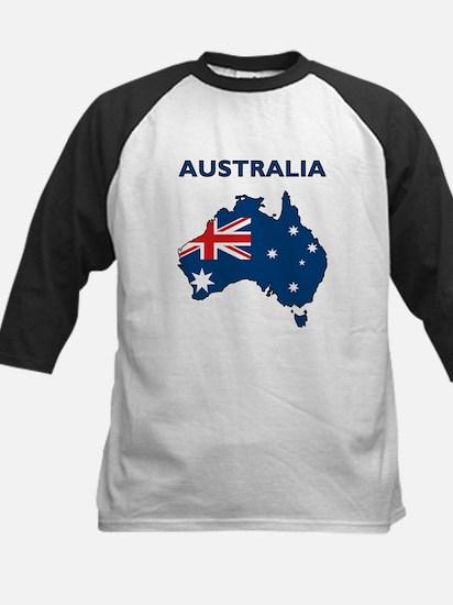 Map Of Australia Kids Baseball Jersey