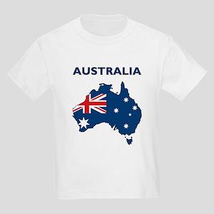Map Of Australia Kids Light T-Shirt