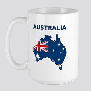 Map Of Australia Large Mug