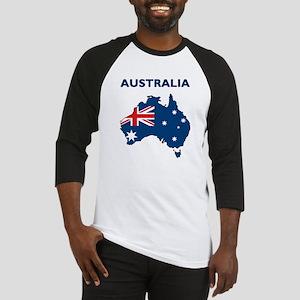Map Of Australia Baseball Jersey