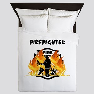 Firefighting Flames Queen Duvet