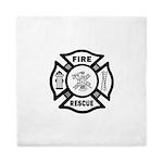 Fire Rescue Queen Duvet