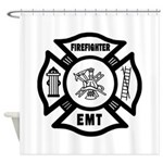 Firefighter EMT Shower Curtain