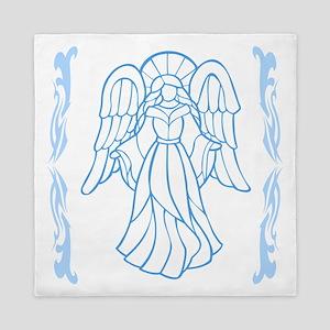 Classical Blue Angel Queen Duvet