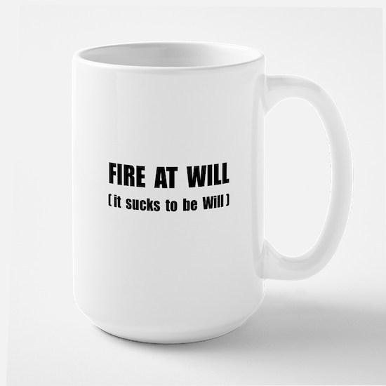 Fire At Will Large Mug