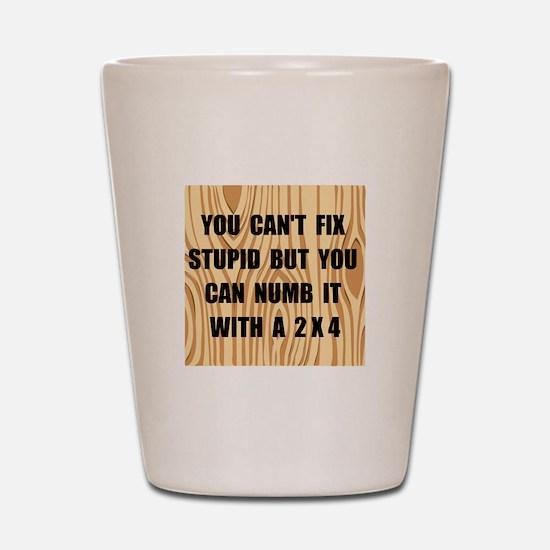 Numb Stupid Shot Glass