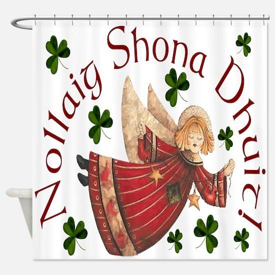 Gaelic Christmas Shower Curtain