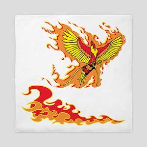 Phoenix and Flames. Queen Duvet