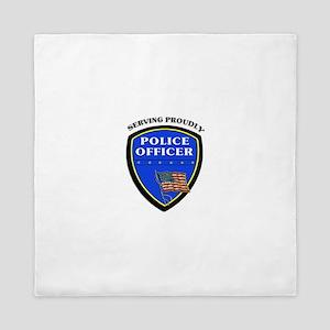 Police Serving Proudly Queen Duvet