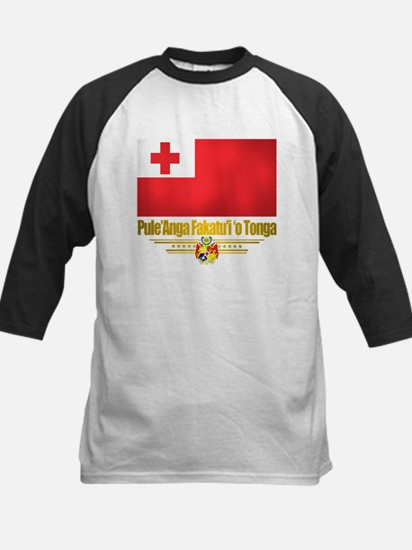 """Tonga Flag"" Kids Baseball Jersey"