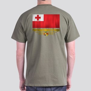 """Tonga Flag"" Dark T-Shirt"