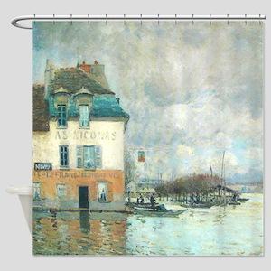 Alfred Sisley Flood Port-Marley Shower Curtain