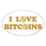 Bitcoins-6 Sticker (Oval)