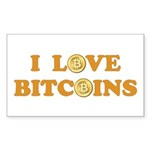 Bitcoins-6 Sticker (Rectangle 10 pk)