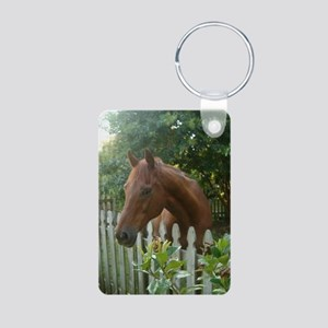 Jericho SCARE Horse Rescue Aluminum Photo Keychain