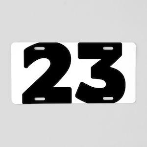 23 Aluminum License Plate