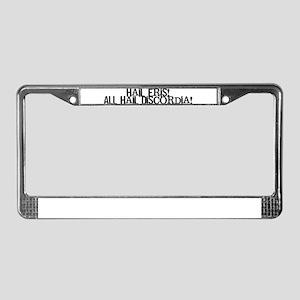 Hail Eris! All Hail Discordia License Plate Frame