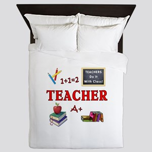 Teachers Do It With Class Queen Duvet