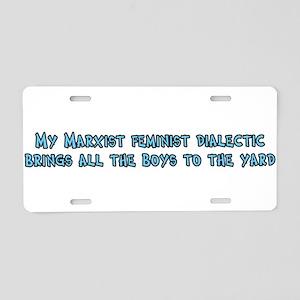 My Marxist Feminist Dialectic Aluminum License Pla