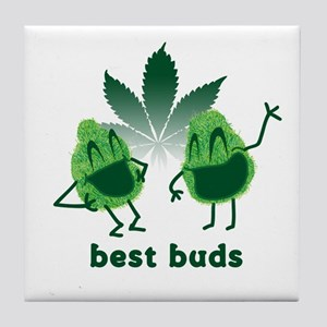 Best Buds Tile Coaster