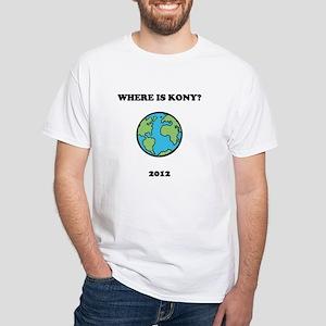 Where is Kony 2012 White T-Shirt